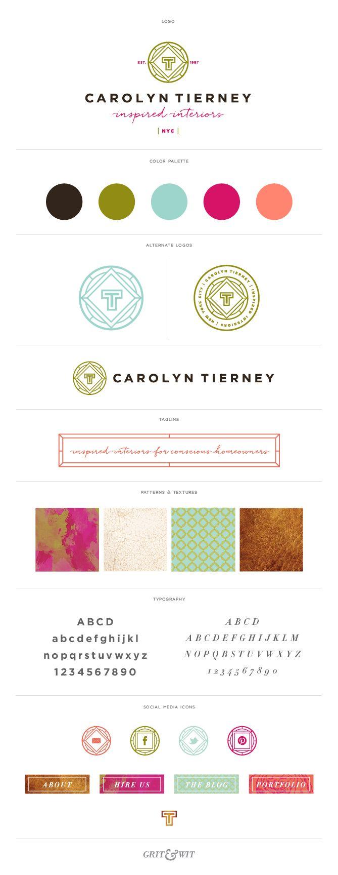 Brand Reveal // Carolyn Tierney Interiors // Grit & Wit #branding #interiordesign