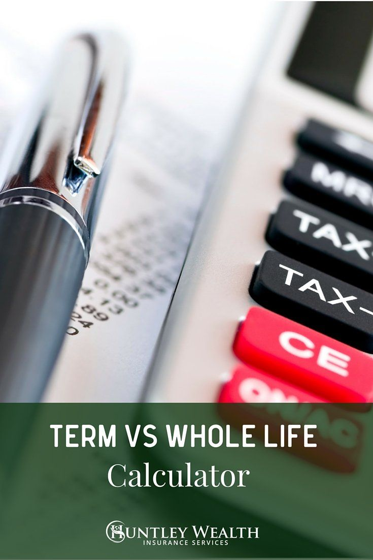 "#huntleywealth just came out with a ""Buy term (and invest the rest) vs. whole life"" calculator"". It calculates term and whole life premiums to show the difference over 10, 20 and 30 years from an investment standpoint. The ultimate message is ""buy term and invest the rest"" is the better deal 95% of the time. http://www.insuranceblogbychris.com/term-vs-whole-life-insurance-comparison-calculator/"