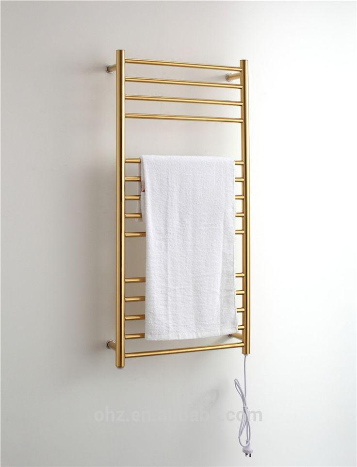 Handdoekenrek Keuken Rvs : sus 304 gouden elektrische verwarmd handdoekenrek radiator badkamer