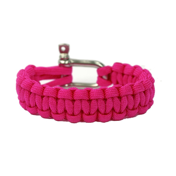 Neon Pink Super Strong and Durable Paracord Bracelet - Naimakka