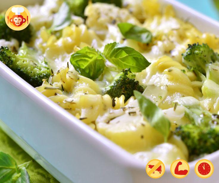 Wege zapiekanka makaronowa z borkułami i mozarellą.  #mozarella #broccoli #pasta #bake #vegetarian #proteins #lunch #dinner #food #foodporn #foodmonkeys