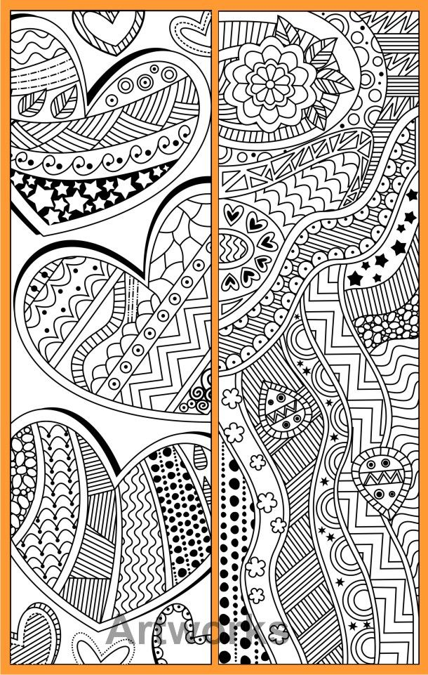 8 printable coloring bookmarks with abstract patterns #abstract #bookmarks #coloring