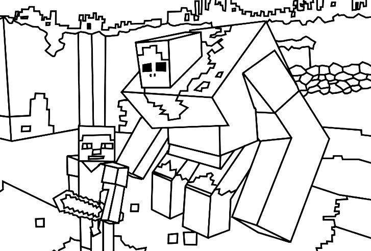 Disegno Di Minecraft Da Colorare Nel 2020 Libri Da Colorare Minecraft Disegni Da Colorare