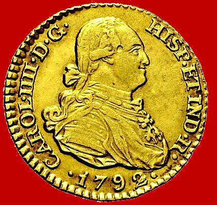 Spanje-Carlos IV (1788-1808)-1 escudo gouden munt. Madrid 1792.  EUR 130.00  Meer informatie