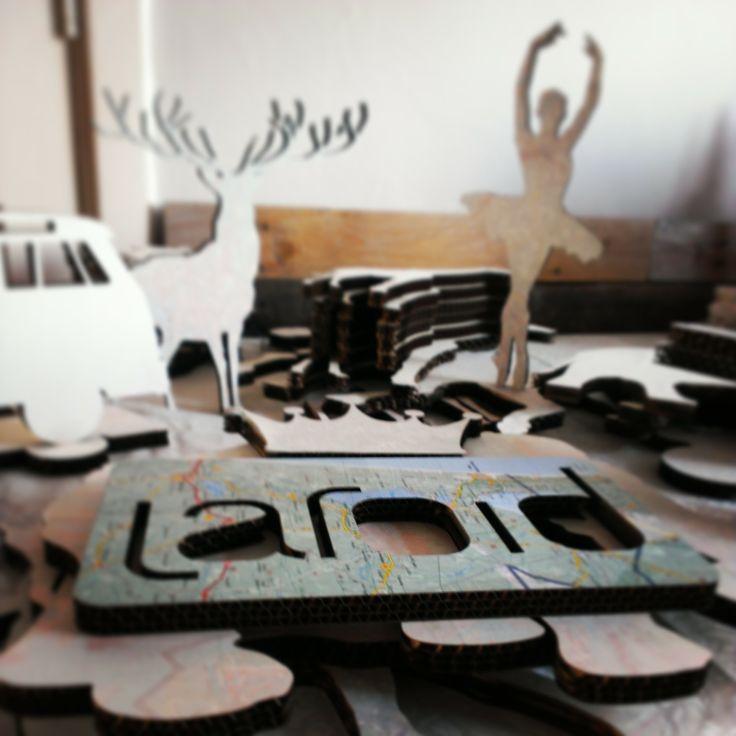 Laroid // Products of Laroid // Diversity of cardboard products: Ballerina, Campervan, Deer, ...