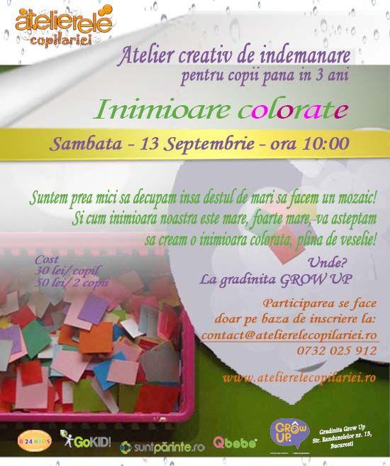 www.atelierelecopilariei.ro - Inimioare colorate