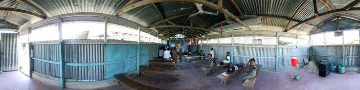 People practise church music in Mtwapa Kenya