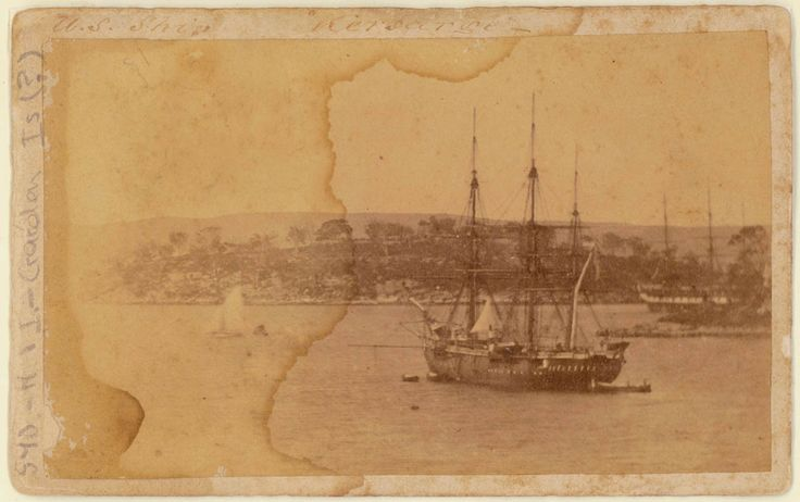 United States Navy warship Kearsarge in Sydney Harbour (near Garden Island), 1869. Mitchell Library, State Library of New South Wales: http://acms.sl.nsw.gov.au/item/itemDetailPaged.aspx?itemID=420999