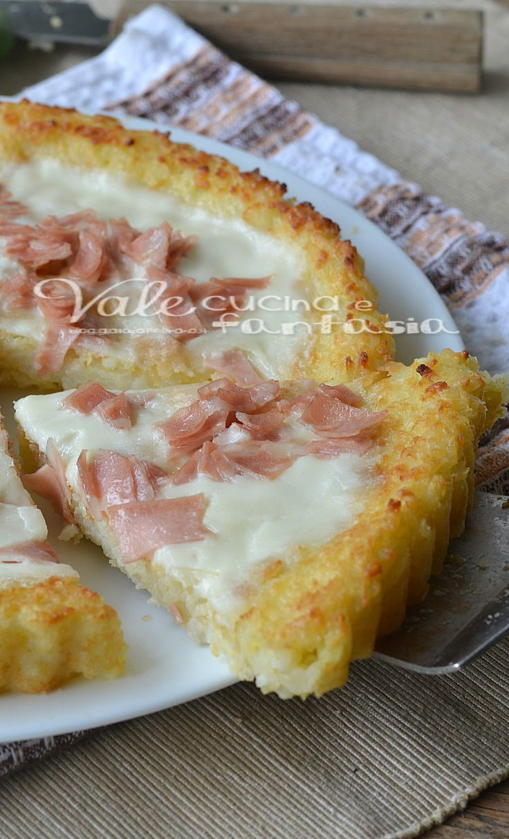 Rice tart with mortadella and stracchino cheese