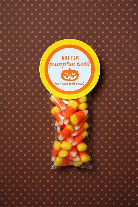 Homemade Halloween Party Favor with Printable: Perfect for Class