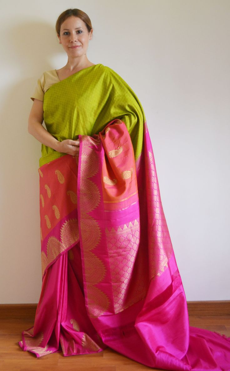 Parrot Green Pure Zari Ranjani Bridal Kanchivaram Silk Saree