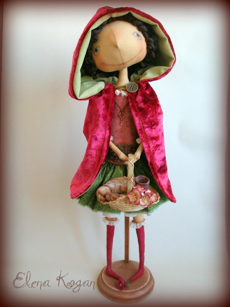 *Dolls Muñecas Bonecas Poupée, Elena Kogan, Little Red, Felt Dolls, Clothing Dollssoft, Blog Elena, Red Riding Hoods, Clothing Dolls Soft, Art Dolls