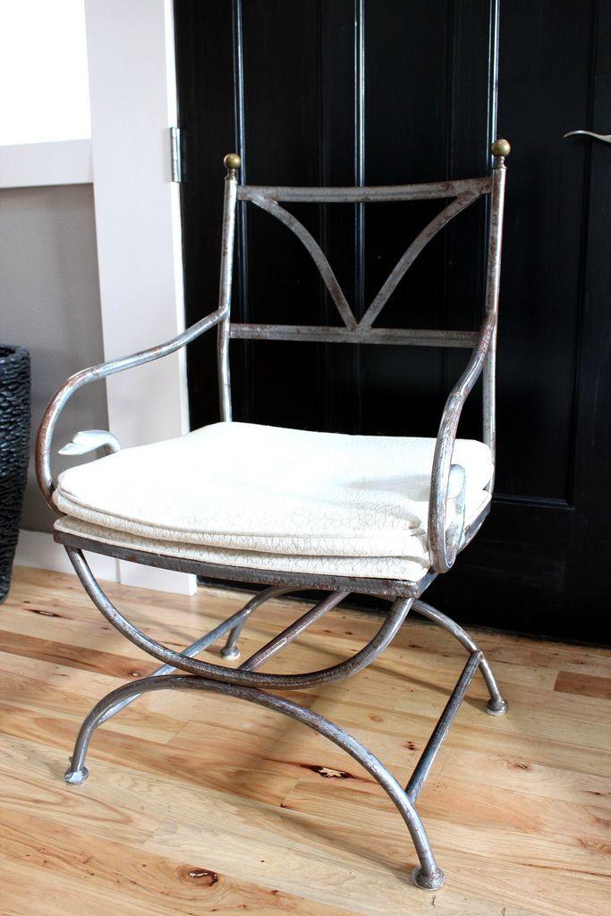 Thrift Store Antique French Iron Garden Chair