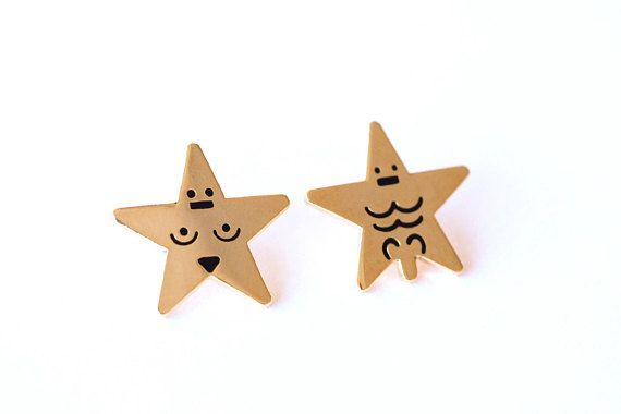 What can I say... Get your Porn Star Pin badges here - fun little gifts for valentines day...!! Made in hard enamel you can choose to have a porn star lady or a porn star man or a set of two... Each pin has a shiny gold finish and with black hard enamel features and will be supplies on a