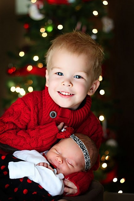 Christmas sibling photo...going to try this tomorrow with L and C.