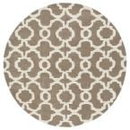 Revolution Light Brown 3 ft. 9 in. x 3 ft. 9 in. Round Area Rug, Lt. Brown