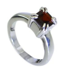 resplendent Garnet Silver Red Ring indian L-1in US 5678