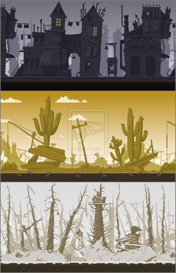 "Background for flash game ""Groundhog D-Day&qu by Pykodelbi on deviantART"