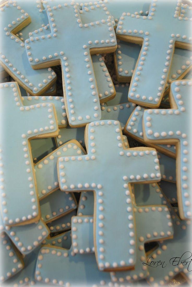 The Baking Sheet: Baby Blue Cross Cookie Platter!