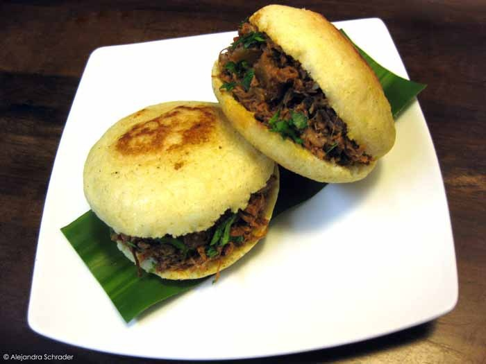 "Arepas with shredded beef | ""Venezuelan food at Cook Global. Eat at Home!"""