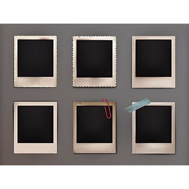 Vector Illustration Vintage Photo Frames With Shadow Photo Frame Picture Png And Vector With Transparent Background For Free Download Vintage Photo Frames Vintage Photos Vector Illustration