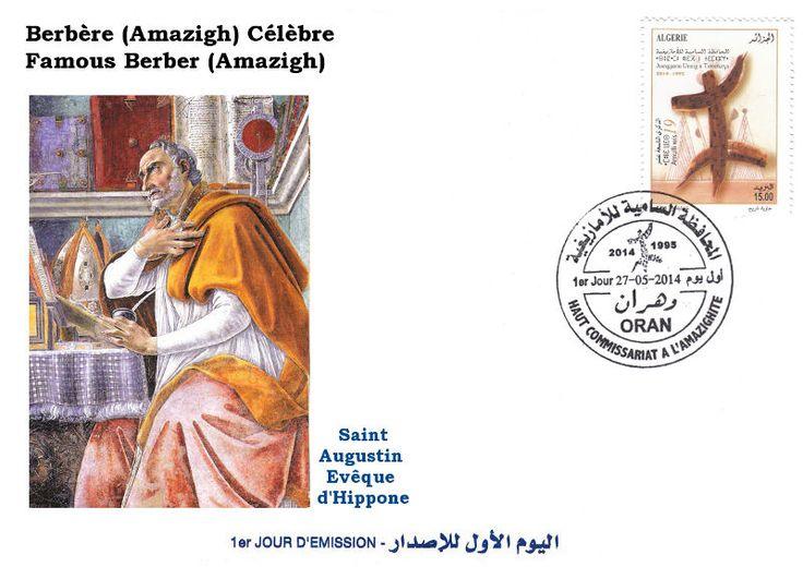 FDC Augustin d'Hippone ou Saint Augustin Thagaste Berbère celèbre