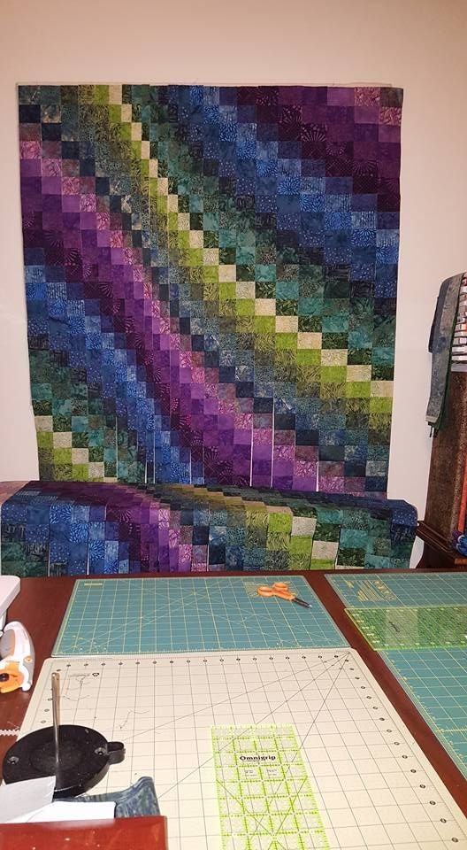 Ocean Bargello...in progress