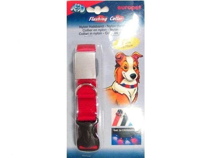 Leuchthalsband Hunde-Sicherheitshalsband Hundehalsband mit Leuchtdioden rot