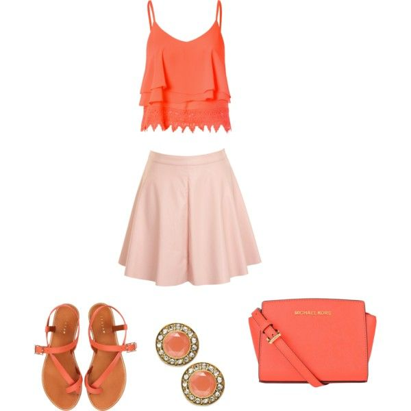 Untitled #2448 by bbossboo on Polyvore featuring polyvore fashion style Glamorous Jigsaw MICHAEL Michael Kors ABS by Allen Schwartz