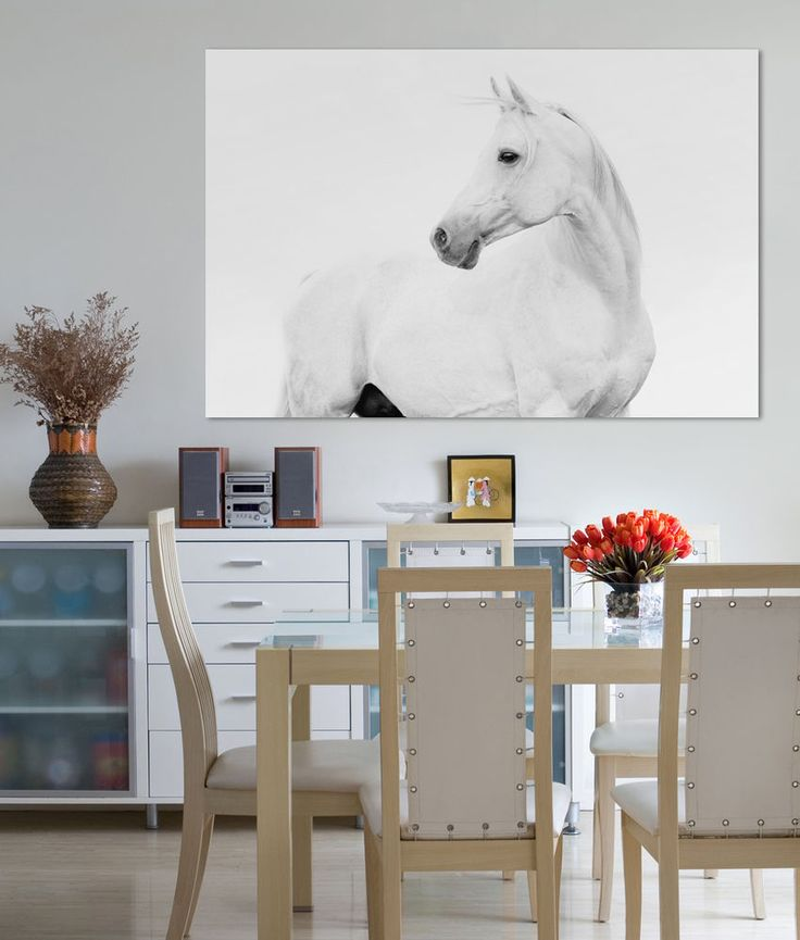 BLACK & WHITE HORSE LOVER CANVAS PRINT CANVAS ART READY TO HANG WALL ART