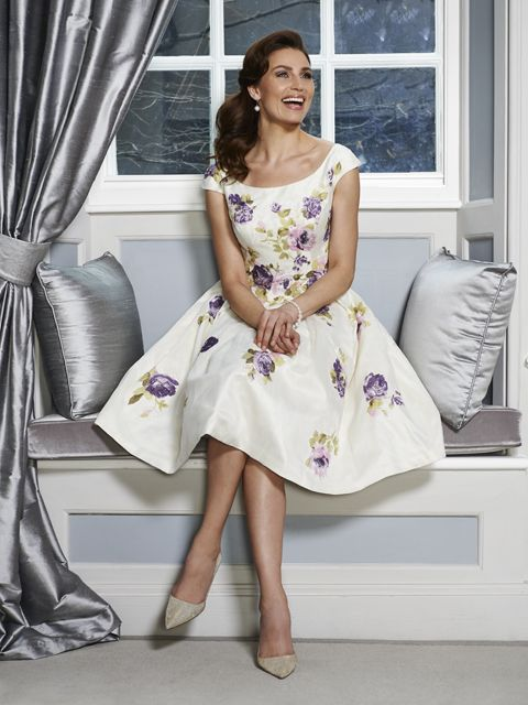 cream silk dupion fabric which features a feminine violet rose organza pattern. Product code ISL691. View more Mother of the Bride / Groom dresses from our Ian Stuart collection at: http://www.baroqueboutique.co.uk/mother-of-the-bride-south-wales/ Photographs courtesy of: http://www.ianstuart-london.com/