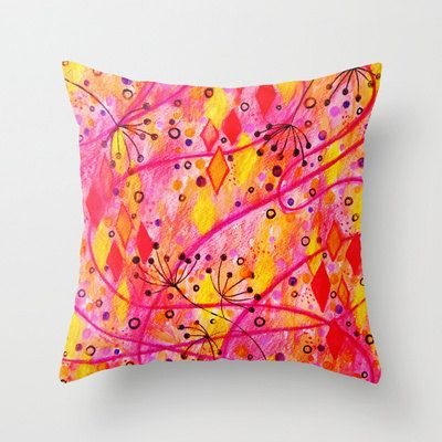 INTO THE FALL Decorative Throw Pillow Cover 18 x 18 by EbiEmporium, $30.00