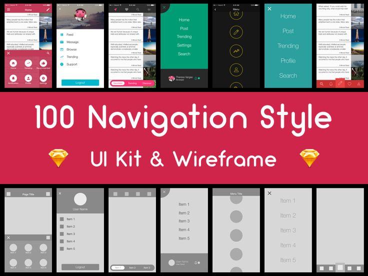100 Navigation Style - (Free Sample)