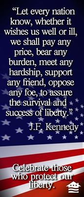"""Pretty sad that JFK now sounds like a conservative. Maybe conservatives should modify this great statement from """"nation"""" to """"party,"""" or """"ideology."""""""