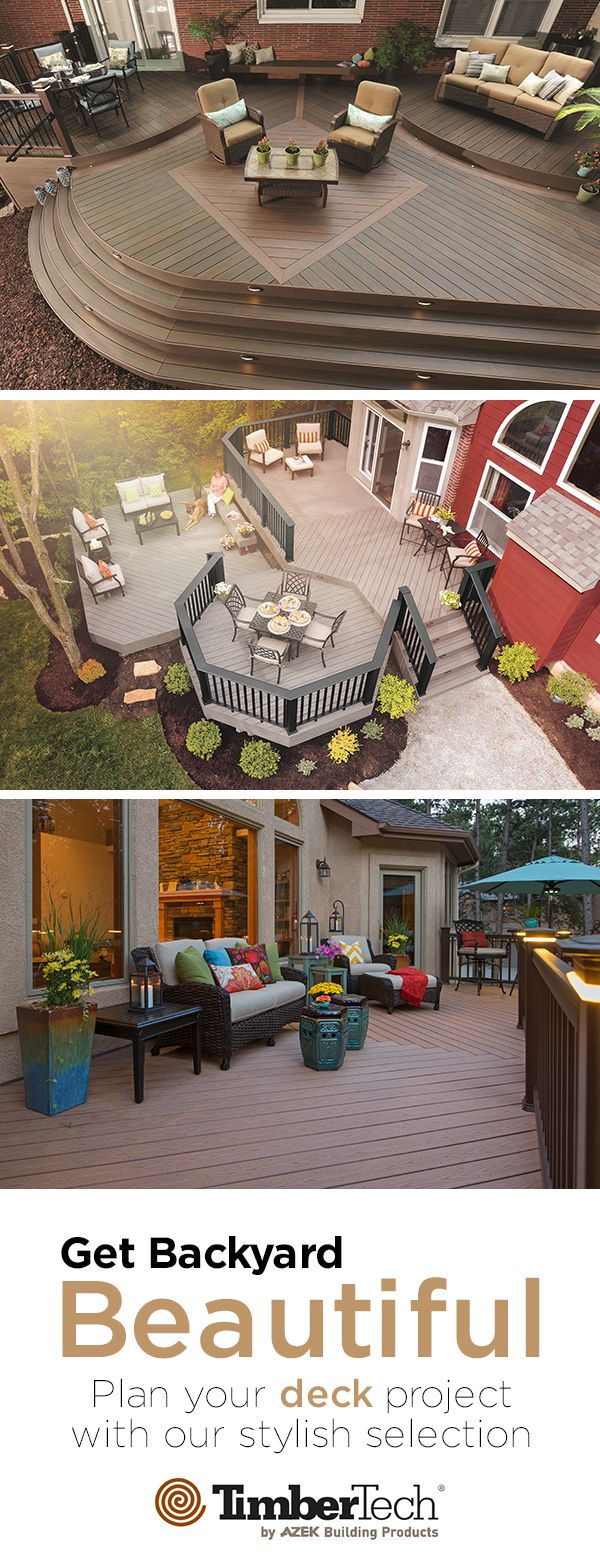 Build the deck of your dreams with TimberTech.