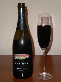 Sparkling Shiraz. Paringa is only $10-11 a bottle, but it's actually my fave! Such a wonderful nose on this, vanilla and berries. It's hard to find but worth the hunt.