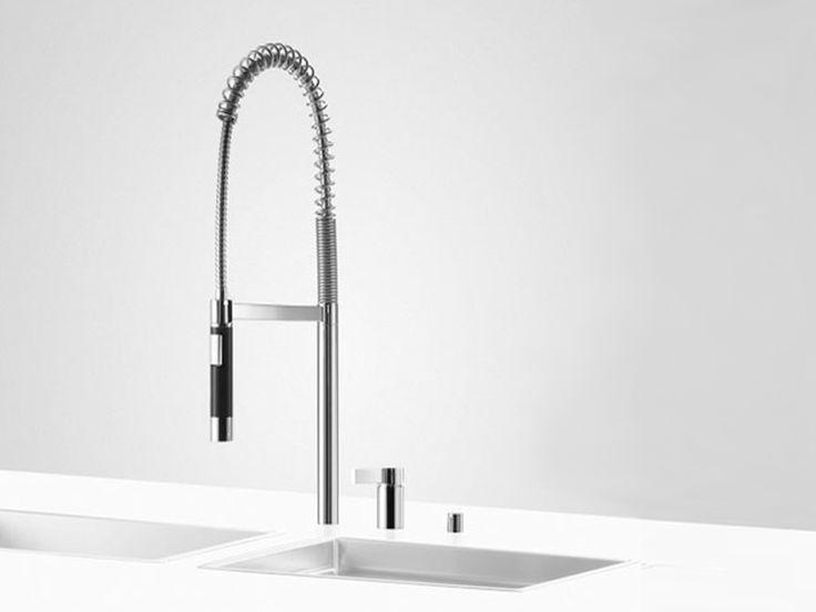 Torneira misturador da cozinha com ducha removível PREP SET 3 by Dornbracht