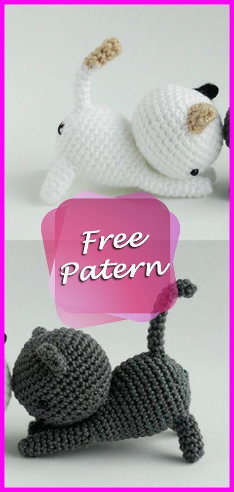 Cats Crochet Amigurumi Pattern Free Igrushki Crochet Patterns