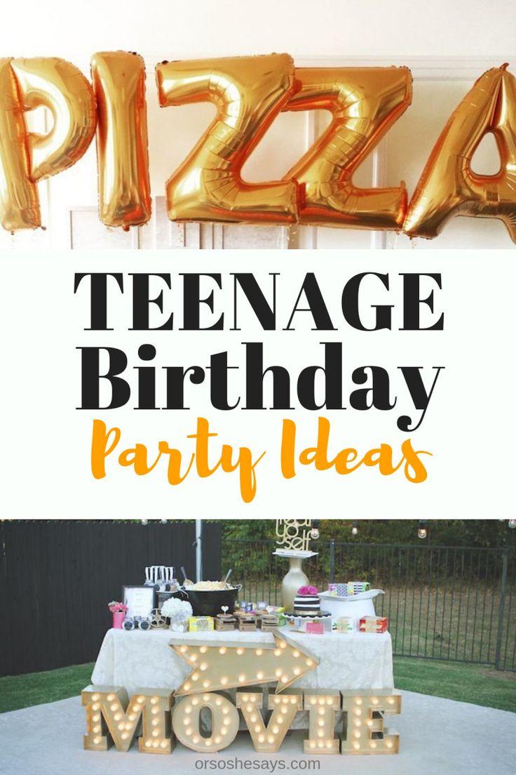 Teenage birthday games