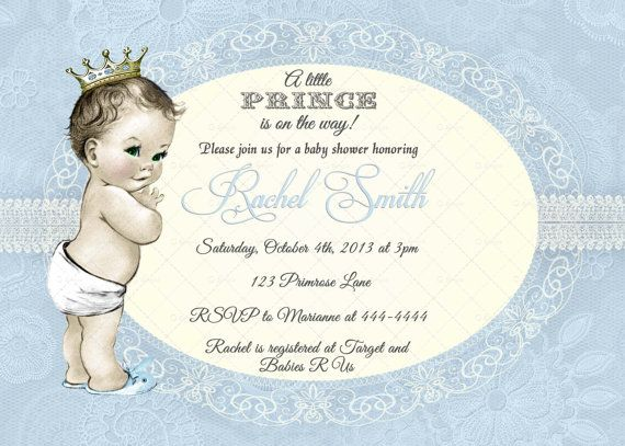 baby boy shower royal baby shower little prince shower invitation