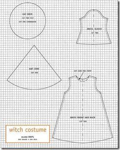 eacabcab5 Disfraz casero de bruja con patrones | costuras | Disfraz de bruja ...