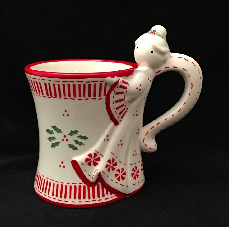 Details About QVC Temp Tations By Tara Angel 12 Oz Coffee Cocoa Mug Cup  Christmas Holiday