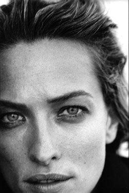 Tatjana Patitz by Peter Lindbergh for the 1996 Pirelli calendar.