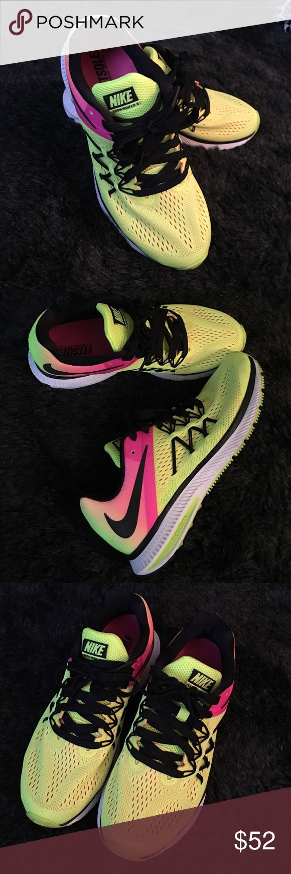 Nike Zoom Zoom Winflo 3 Brand new condition.  Only wore them once. Nike Shoes Sneakers