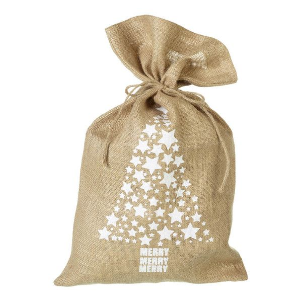 Parlane Tree Jute Christmas Sack - White (50 x 30cm) (230 MXN) ❤ liked on Polyvore featuring home, home decor, holiday decorations, christmas, filler, natale, white home accessories, christmas holiday decor, christmas home decor and white home decor