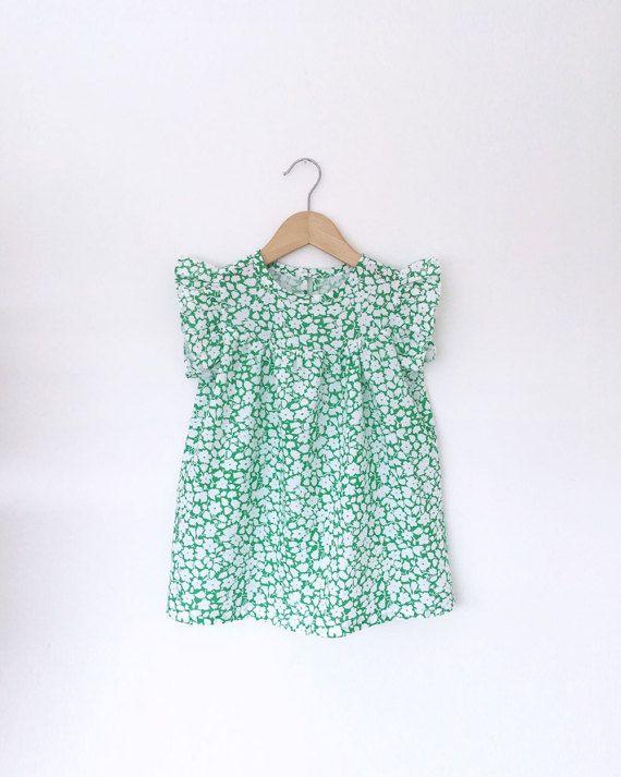 groene bloemen katoenen jurk van SwallowsReturn op Etsy