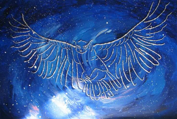 """https://flic.kr/p/yN6iG5   Owl in Flight   """"Owl in Flight"""" is another piece made from acrylic on panel and aluminum foil. Exploring how to turn such everyday, """"mundane"""" materials such as kitchen aids into something beautiful (well, that I think is beautiful, and that I hope others will think is beautiful *smiles*) is something I am focusing on at the moment...""""Owl in Flight"""" is available. Please visit www.websterartgallery.com"""