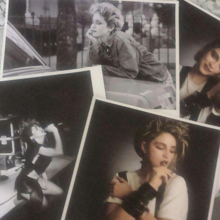 Fotos de la exposición Madonna, el nacimiento de un mito en La Térmica, Málaga.
