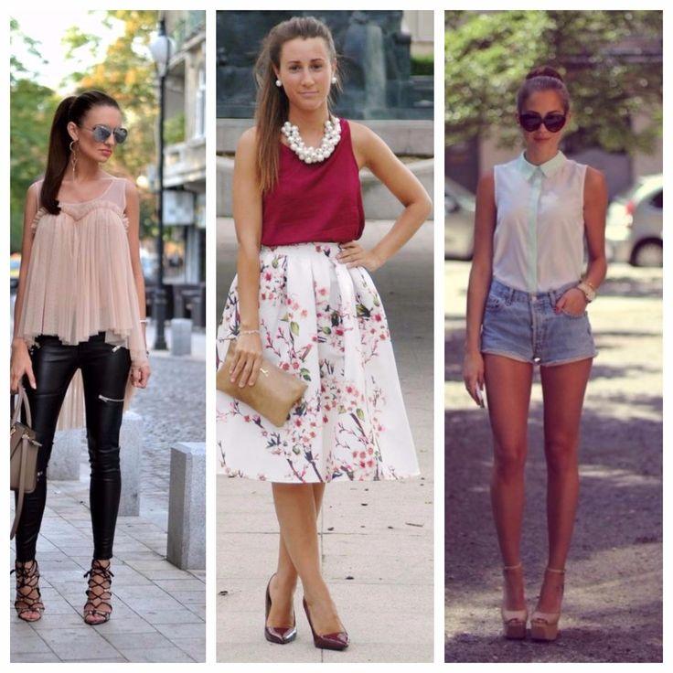Блузка без рукавов: с чем носить, виды блузок, выбираем в 2017