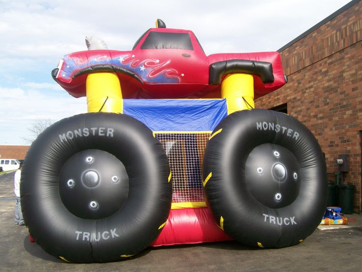 Moonwalk Monster Truck  Inflatable! For boys birthday parties or for those who just love monster Trucks!Chicago Party Rentals